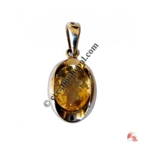 Creation nepal oval golden topaz pendant sterling silver jewelry oval golden topaz pendant aloadofball Image collections
