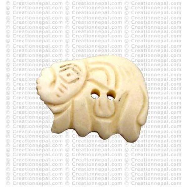 Elephant shape bone button3 (packet of 10)