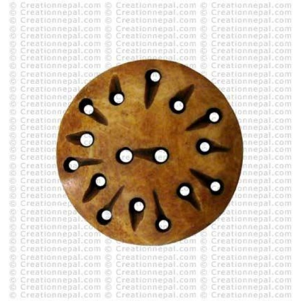 Dark holes bone button (Packet of 10)