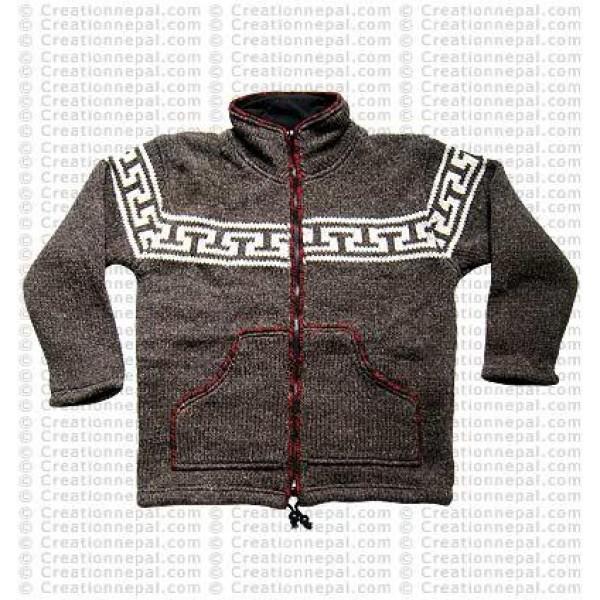 Woolen high-neck jacket1