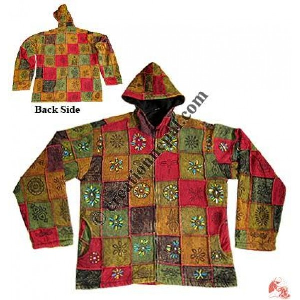 Shyama stone wash colorful print jacket
