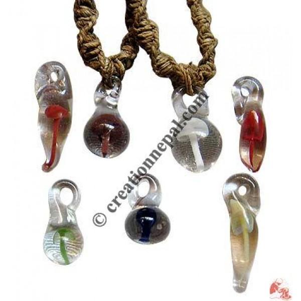 Creation nepal glass mushroom pendants handicrafts clothing dharma glass mushroom pendants aloadofball Images