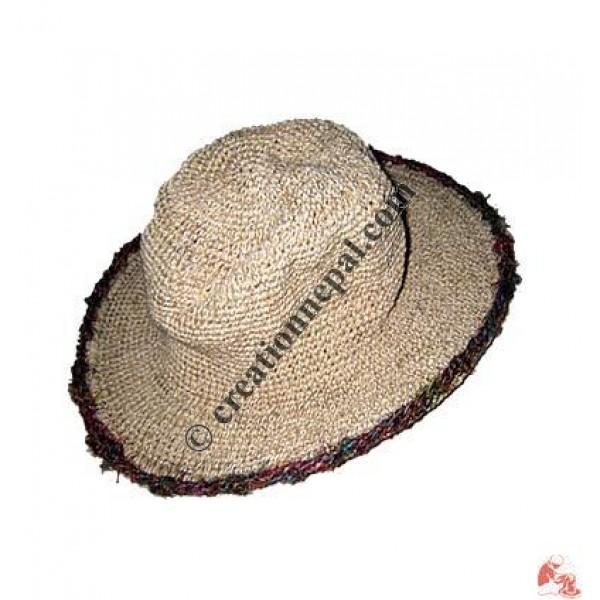 8675f356428 Creation Nepal Hemp-cotton wire round hat Handicrafts Clothing ...