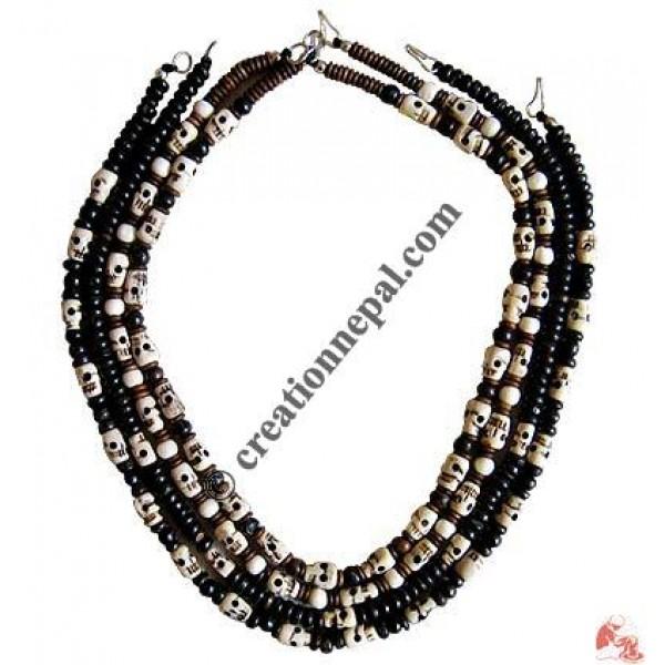 Bone assorted design necklace3