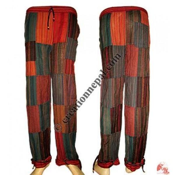 Cotton patch-work ladies trouser