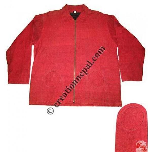 BTC circle-pocket design cotton jacket