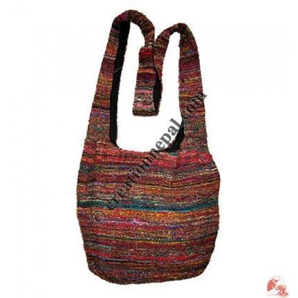 Recycled silk fine-knit jogi bag
