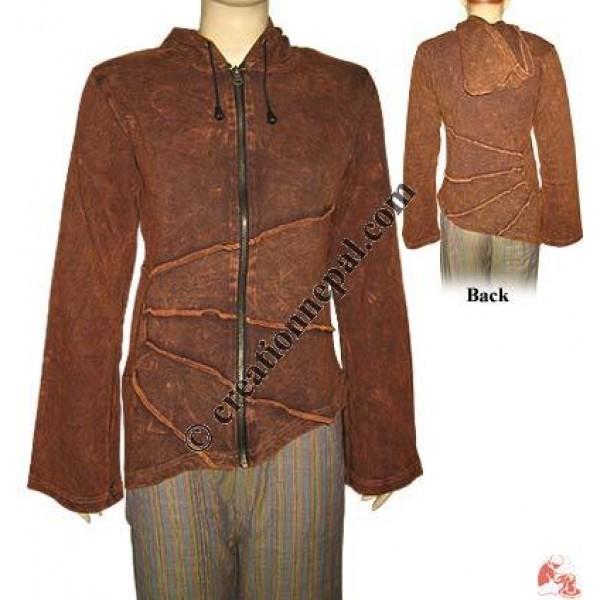 Stone wash plain rib jacket
