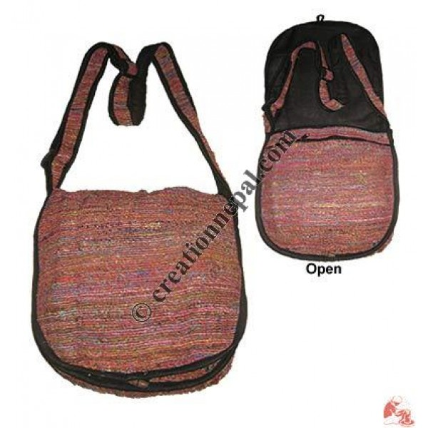 Recycled silk flap bag