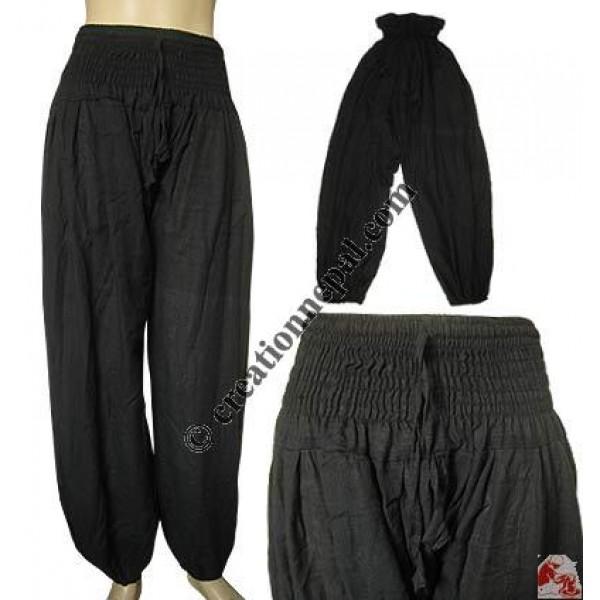 Elastic waist khaddar ladies trouser