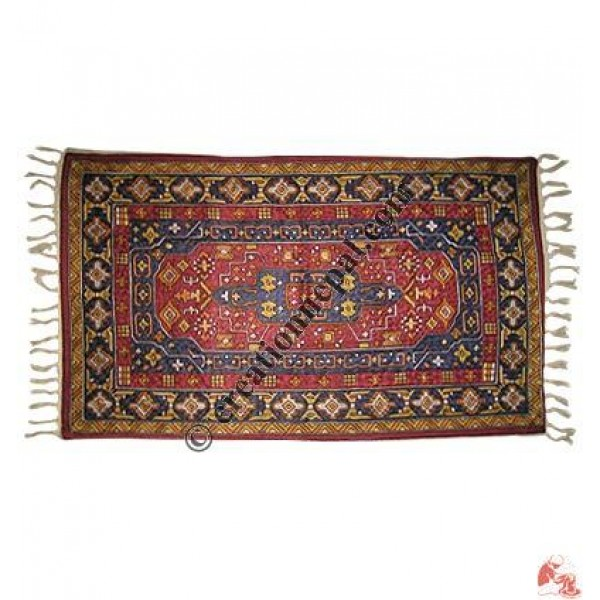 Silk embroidered rug