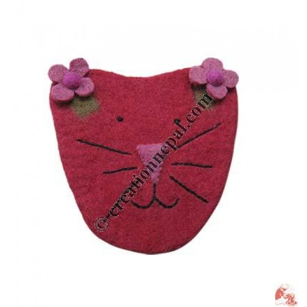 Cat face girls purse