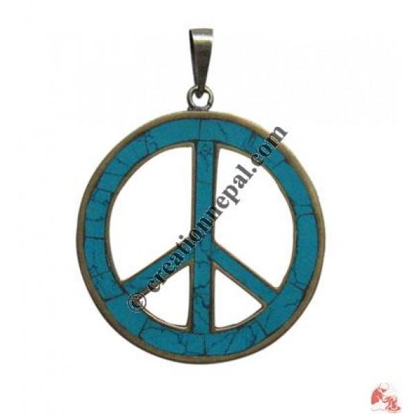 Large size peace sign pendant