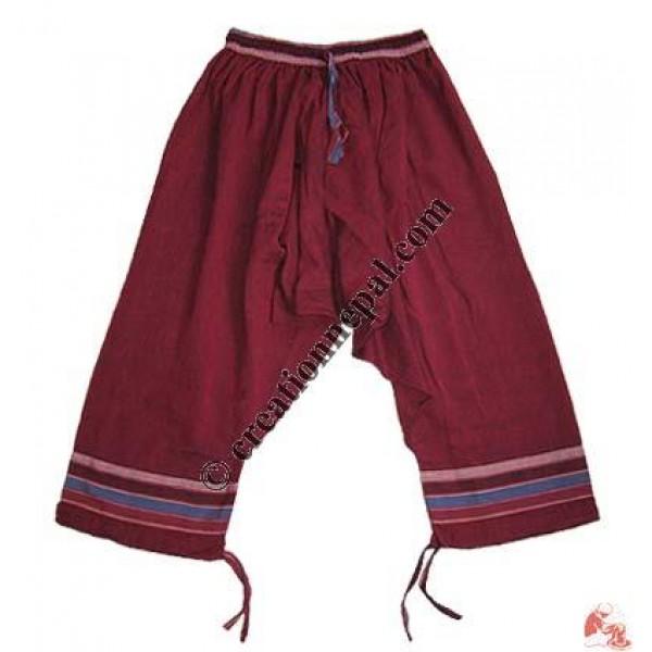 Cotton 3-quarter trouser