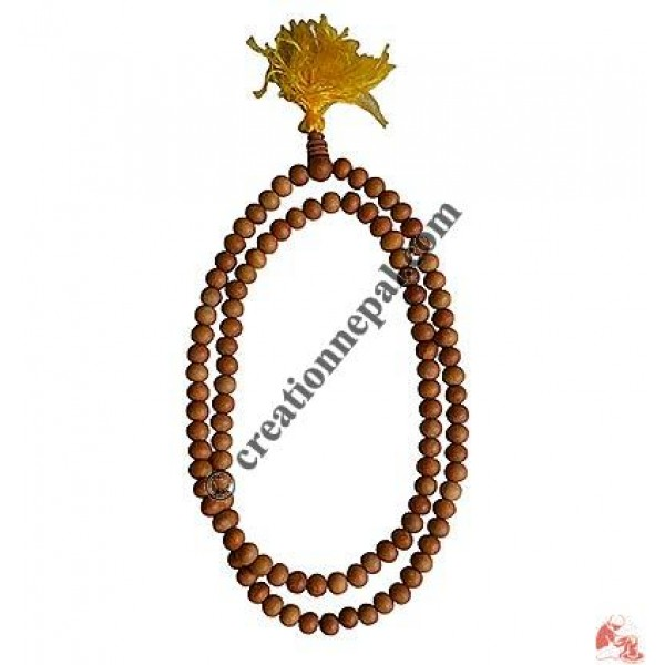 Pure Sandalwood 8 mm 108 beads mala
