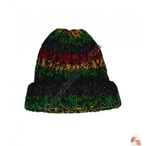 0e000a3e1bf Creation Nepal RASTA woolen simple hat Handicrafts Clothing