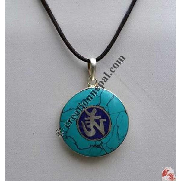Tibetan Om round pendant