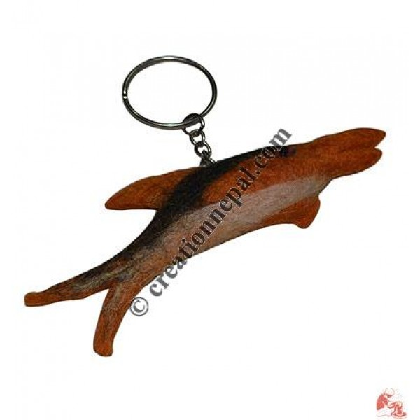 Dolphin felt key ring
