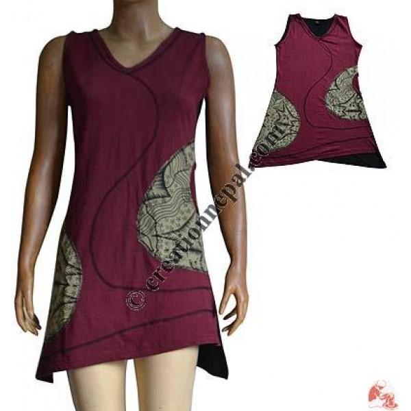 V-neck over-lock dress