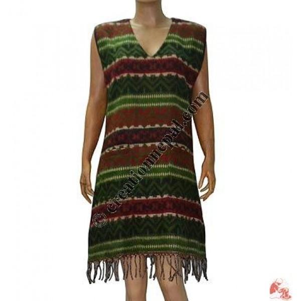 Acrylic-cotton frills dress