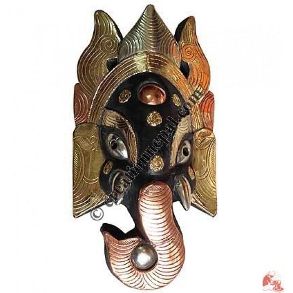Metal decorated Ganesh mask2