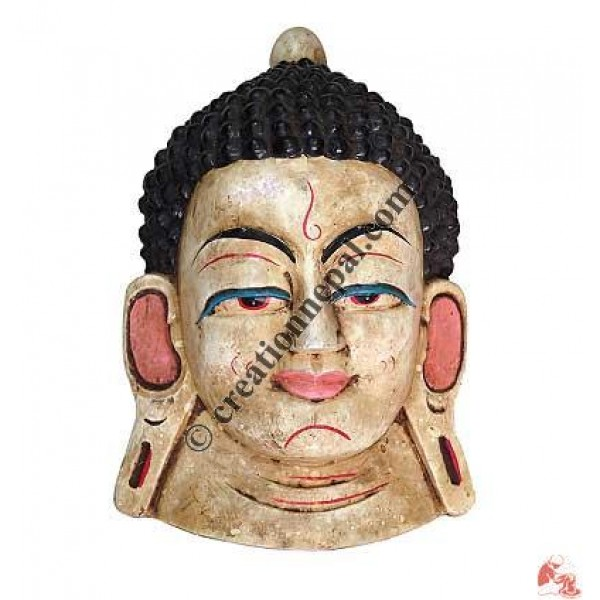 Wooden Buddha mask