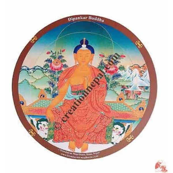 Dipankar Buddha print mouse pad