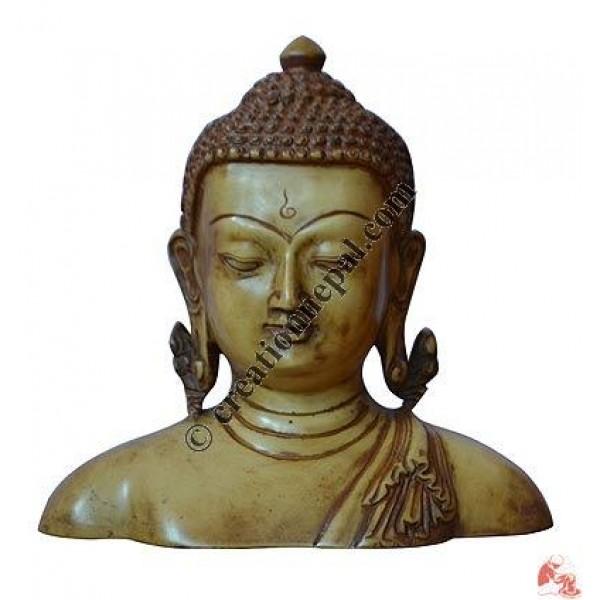 Resin medium size monk Buddha