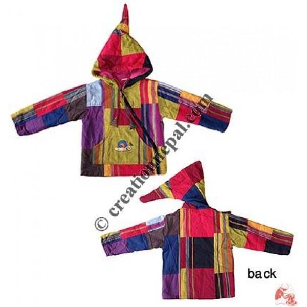 Big-stripes shyama cotton kids jacket