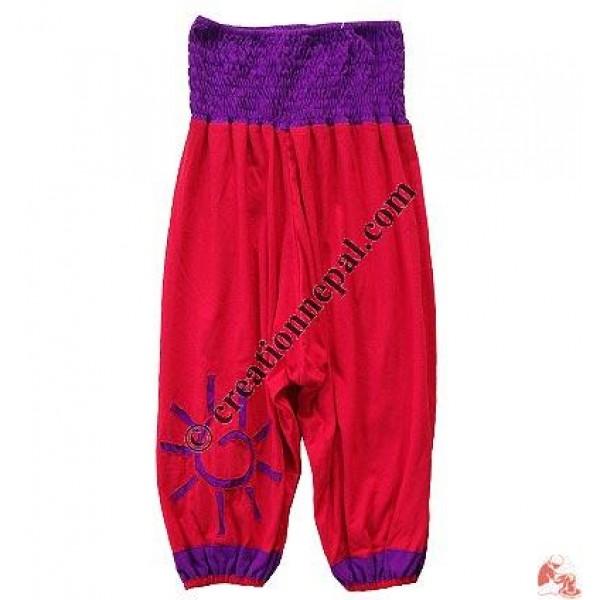 Spiral-cut sun sinkar kids trouser
