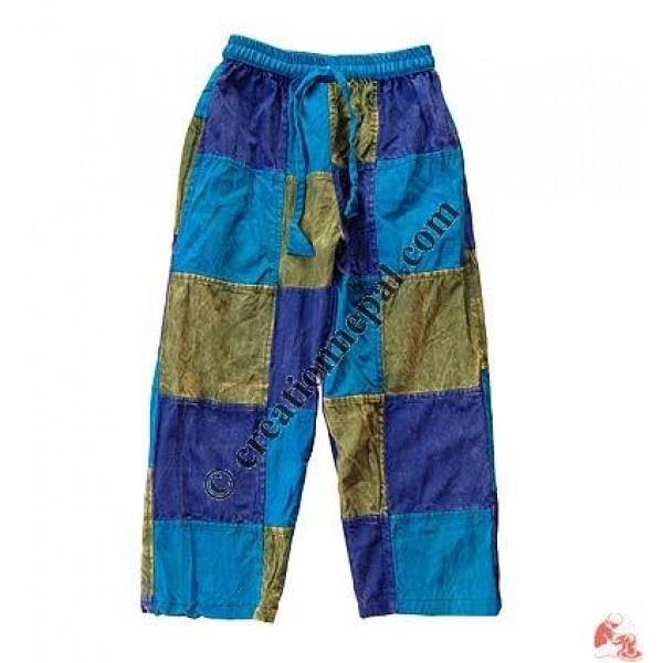 Fine cotton patch-work kids trouser