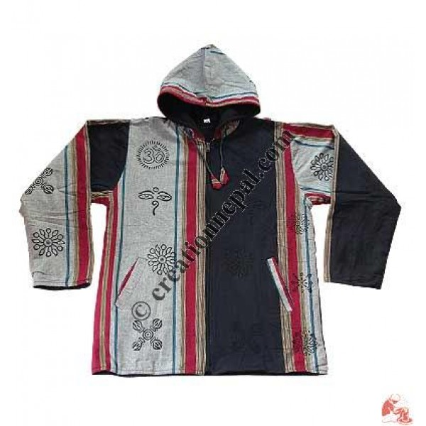 Shyama wide stripes hooded jacket
