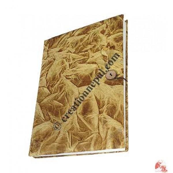 Golden tie-dye foamy cover notebook