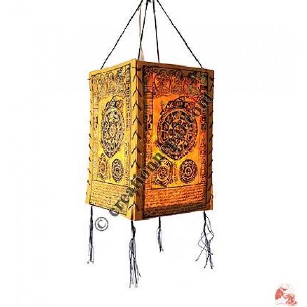 Mandala print 4-fold lampshade