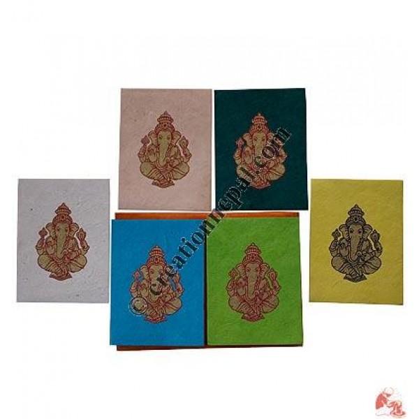 Ganesha print cards set