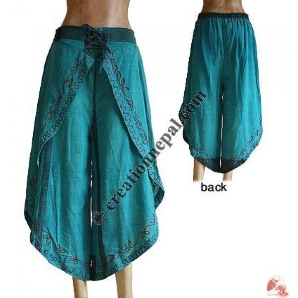 Sides open cotton trouser1