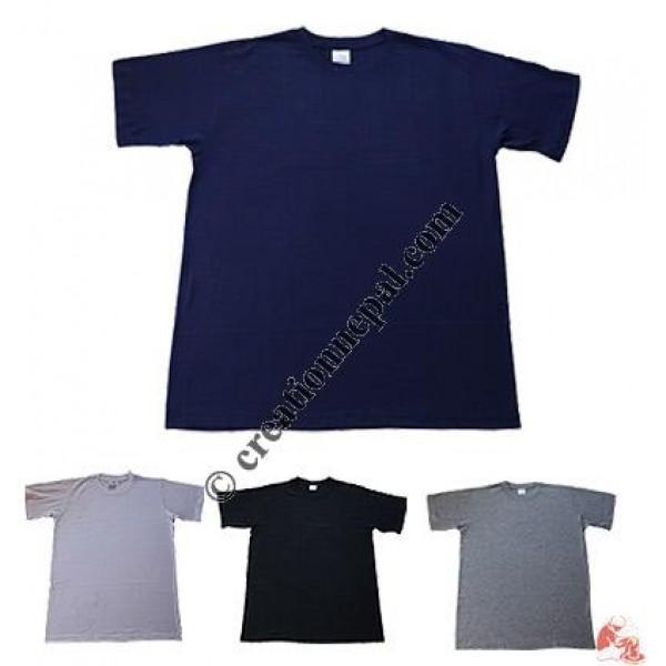 Plain color round-neck t-shirt