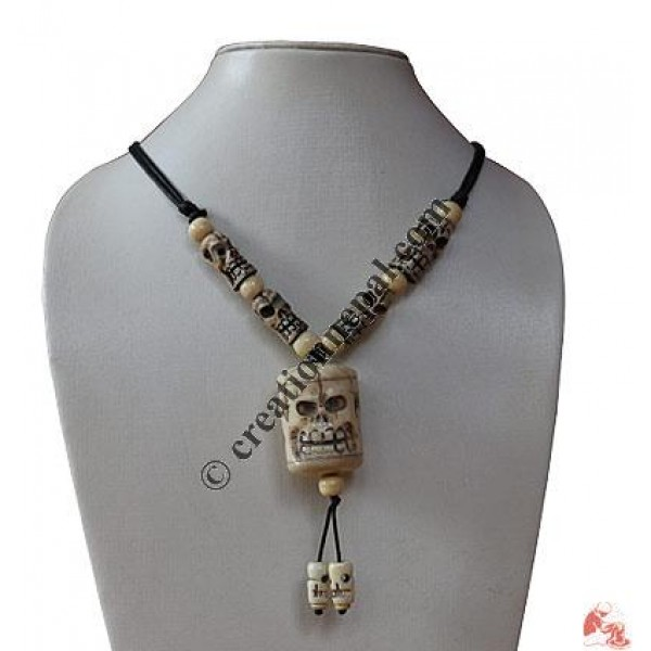 Creation Nepal Skull Carved Bone Pendant Handicrafts Clothing Dharma Ware Jewelry Fair Trade Accessories Suppliers