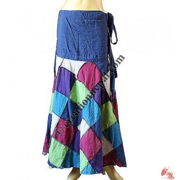 Tile design patch open wrapper skirt