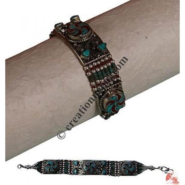 Turquoise-coral bracelet4
