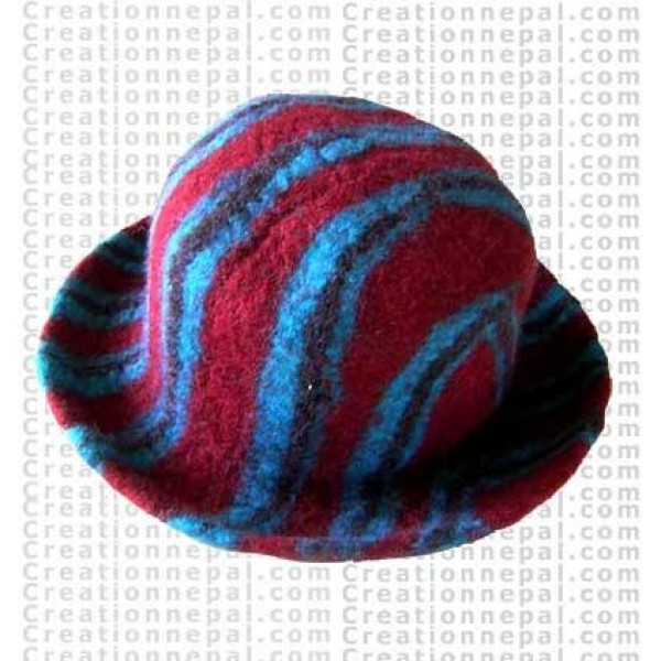 Felt stripe hat 5