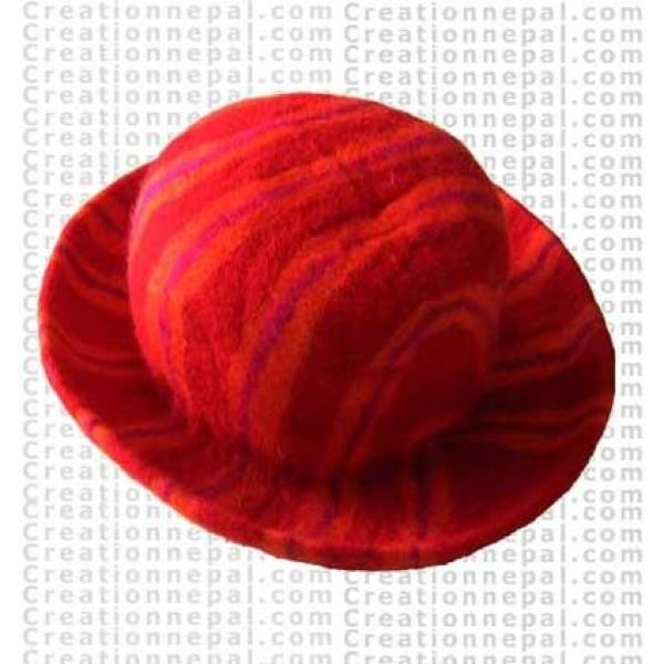 Felt stripe hat 8