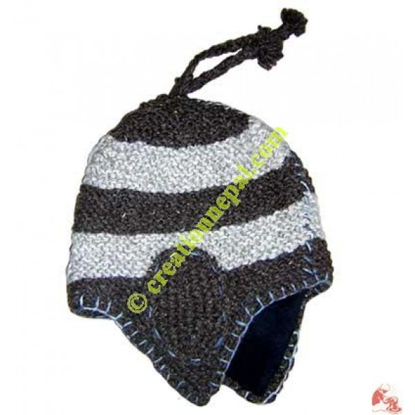 Woolen flap hat2