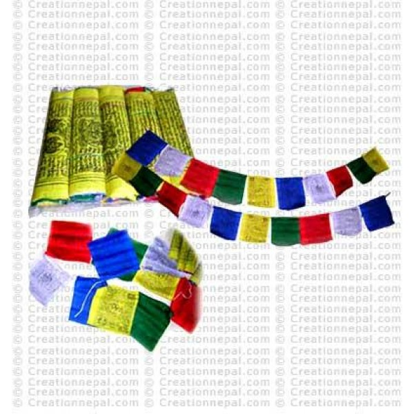 Tibetan prayer flag (packet of 5 rolls)