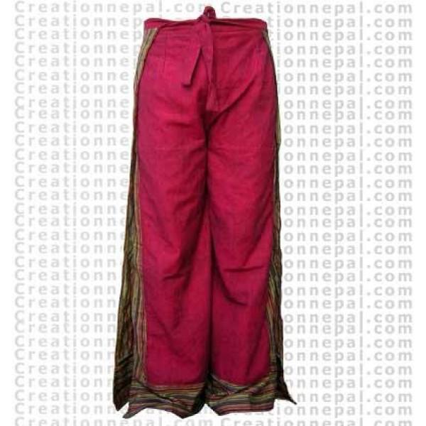 Cotton open trouser 1
