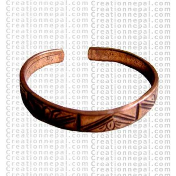 Carved Cupper Bangle