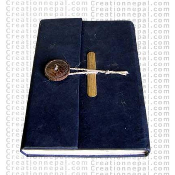 Wooden button note book