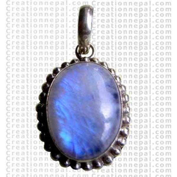 Rainbow moon stone pendant 1