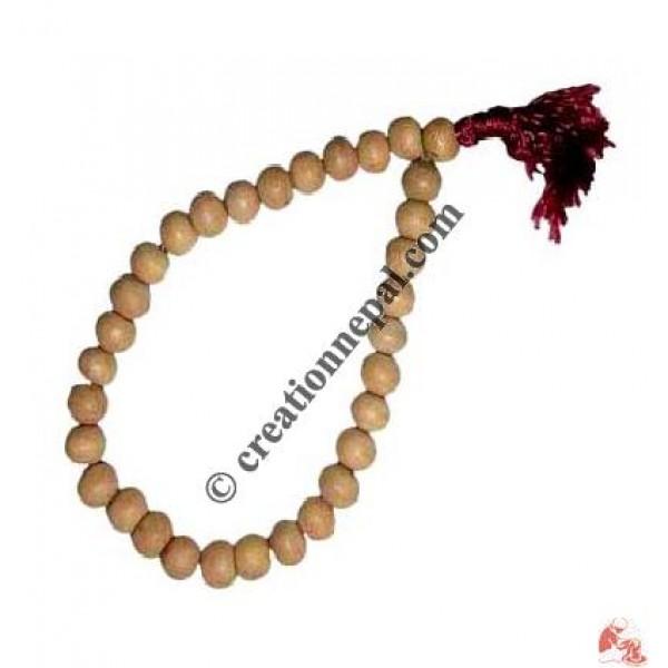 Pure sandalwood bead swrist mala