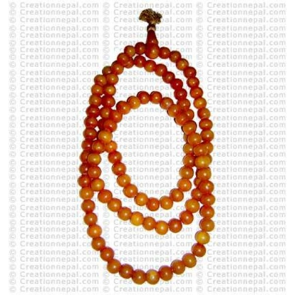 Yellow plasic beads mala